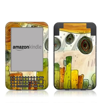 Kindle Keyboard Skin - City Life
