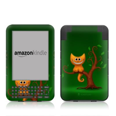 Kindle Keyboard Skin - Cheshire Kitten