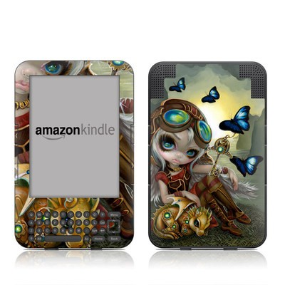 Kindle Keyboard Skin - Clockwork Dragonling