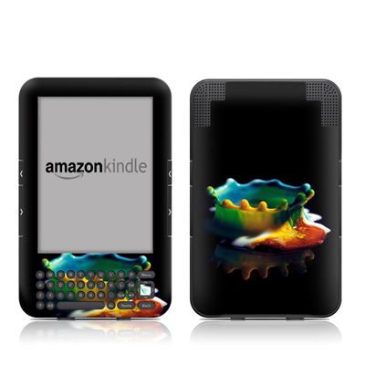 Kindle Keyboard Skin - Colored Crown