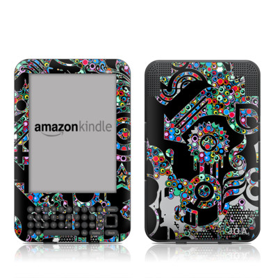 Kindle Keyboard Skin - Circle Madness