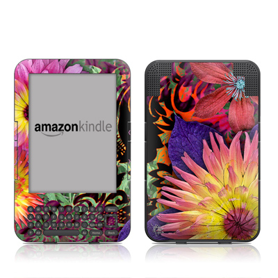 Kindle Keyboard Skin - Cosmic Damask