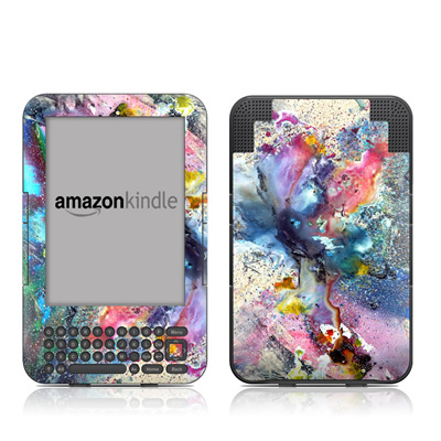Kindle Keyboard Skin - Cosmic Flower
