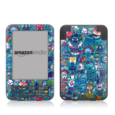 Kindle Keyboard Skin - Cosmic Ray