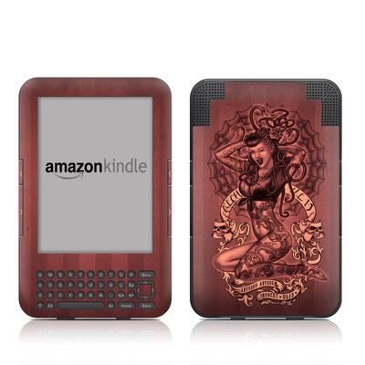 Kindle Keyboard Skin - If Looks Could Kill