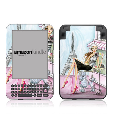 Kindle Keyboard Skin - Cafe Paris