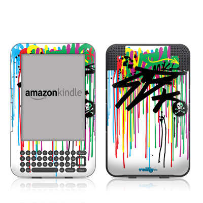 Kindle Keyboard Skin - Colour Rain