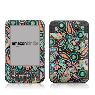 Kindle Keyboard Skin - Crazy Daisy Paisley