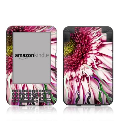 Kindle Keyboard Skin - Crazy Daisy