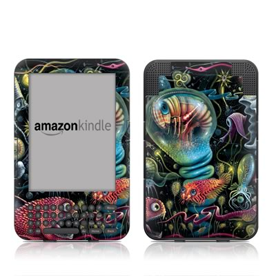 Kindle Keyboard Skin - Creatures
