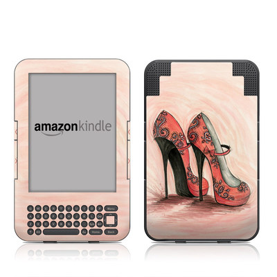 Kindle Keyboard Skin - Coral Shoes