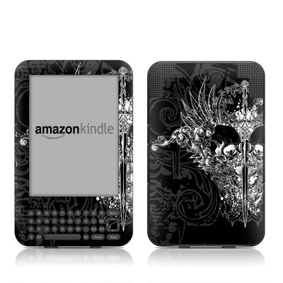 Kindle Keyboard Skin - Darkside