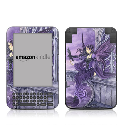 Kindle Keyboard Skin - Dark Wings