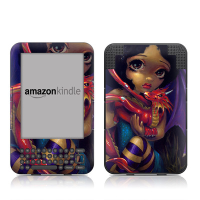 Kindle Keyboard Skin - Darling Dragonling