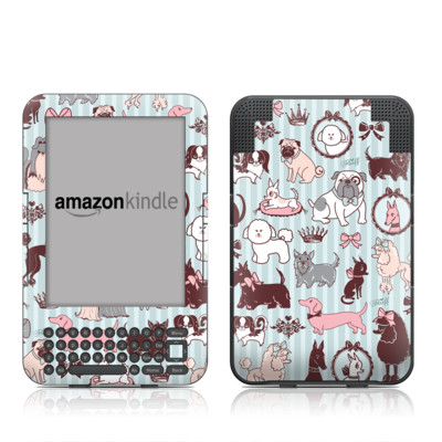 Kindle Keyboard Skin - Doggy Boudoir