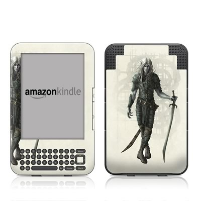 Kindle Keyboard Skin - Dark Elf
