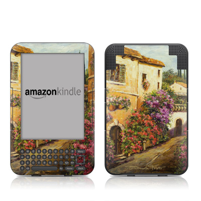 Kindle Keyboard Skin - Via Del Fiori