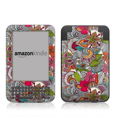 Kindle Keyboard Skin - Doodles Color