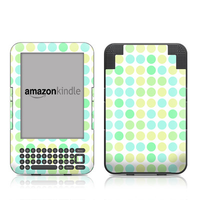 Kindle Keyboard Skin - Big Dots Mint