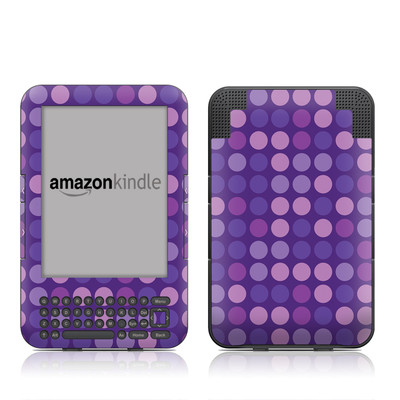 Kindle Keyboard Skin - Big Dots Purple