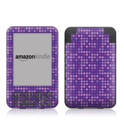 Kindle Keyboard Skin - Dots Purple