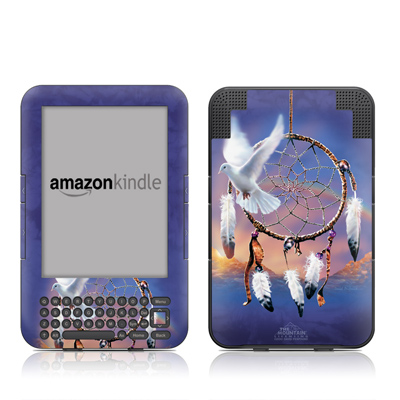 Kindle Keyboard Skin - Dove Dreamer