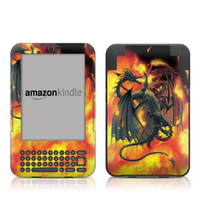 Kindle Keyboard Skin - Dragon Wars
