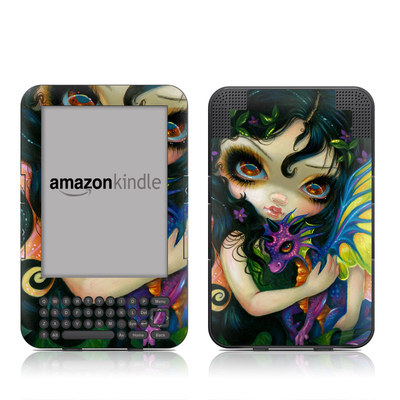 Kindle Keyboard Skin - Dragonling Child
