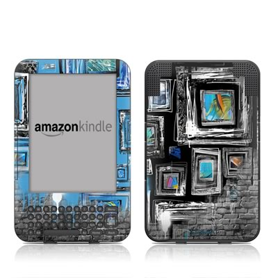 Kindle Keyboard Skin - Dripping Walls