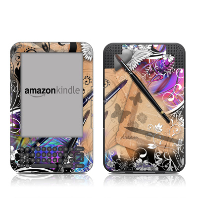 Kindle Keyboard Skin - Dream Flowers