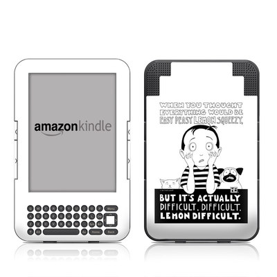 Kindle Keyboard Skin - Easy Peasy