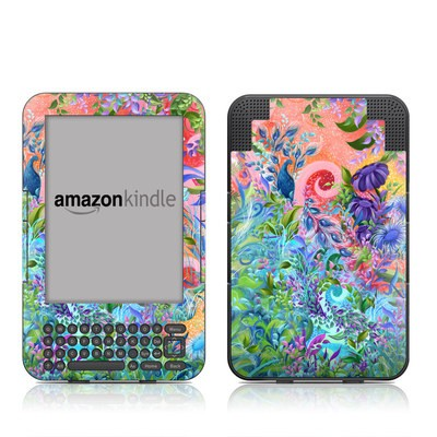 Kindle Keyboard Skin - Fantasy Garden