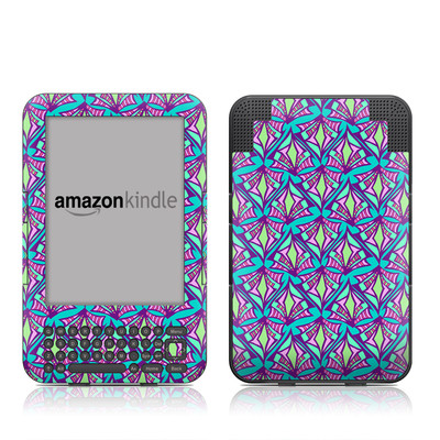 Kindle Keyboard Skin - Fly Away Teal
