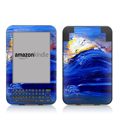 Kindle Keyboard Skin - Feeling Blue
