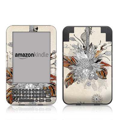 Kindle Keyboard Skin - Fall Floral