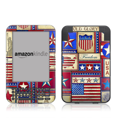 Kindle Keyboard Skin - Flag Patchwork