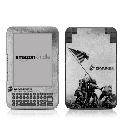 Kindle Keyboard Skin - Flag Raise