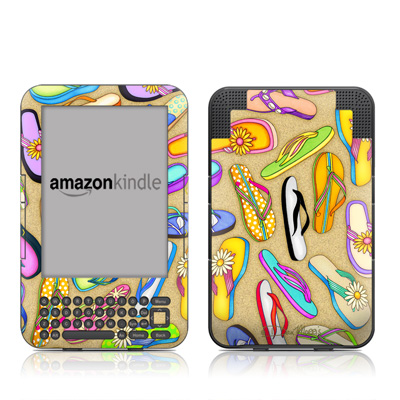 Kindle Keyboard Skin - Flip Flops
