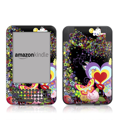 Kindle Keyboard Skin - Flower Cloud