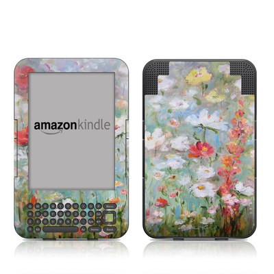 Kindle Keyboard Skin - Flower Blooms