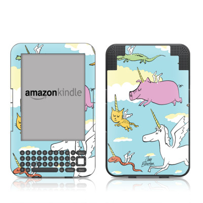 Kindle Keyboard Skin - Fly