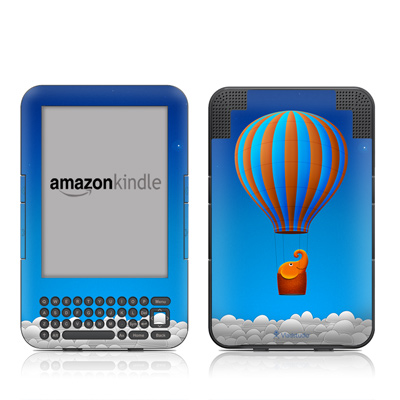Kindle Keyboard Skin - Flying Elephant