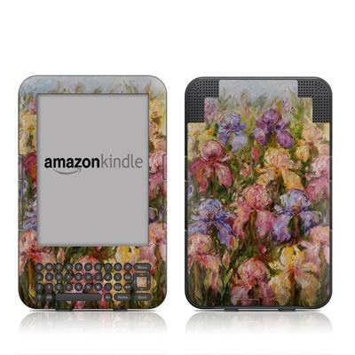 Kindle Keyboard Skin - Field Of Irises