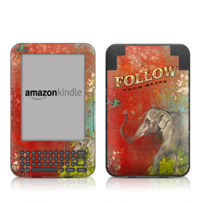 Kindle Keyboard Skin - Follow Your Bliss