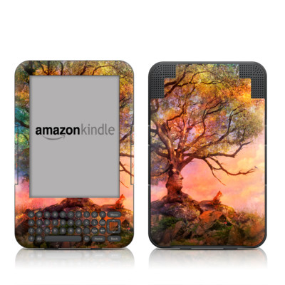 Kindle Keyboard Skin - Fox Sunset