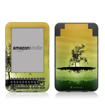 Kindle Keyboard Skin - Flying Tree Amber