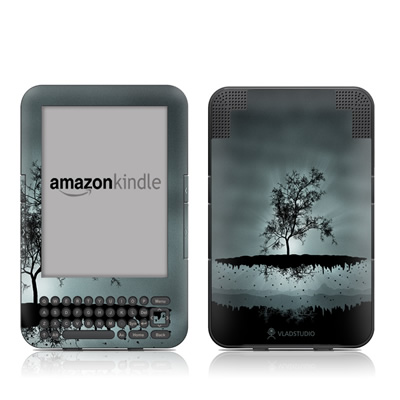 Kindle Keyboard Skin - Flying Tree Black