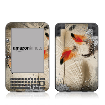 Kindle Keyboard Skin - Feather Dance
