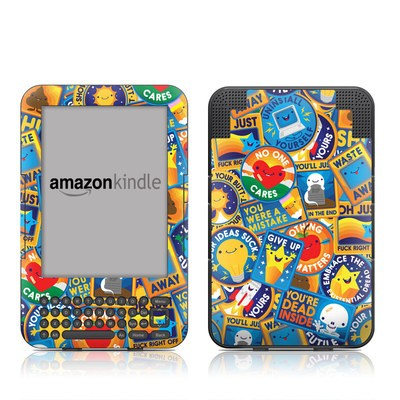 Kindle Keyboard Skin - Eff Right Off