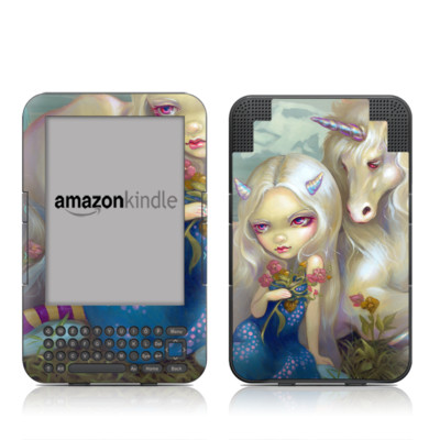 Kindle Keyboard Skin - Fiona Unicorn
